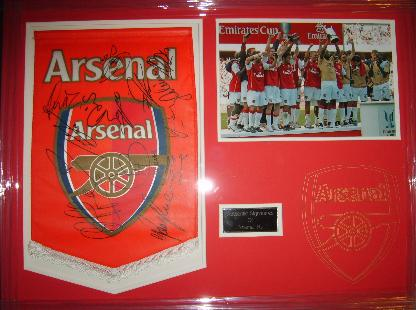Arsenal pennant signed by various legends