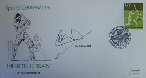 Cricket legend Sir Ian Botham first day cover signed envelope