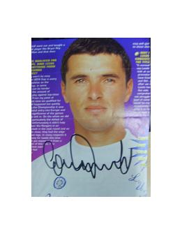 Gary Speed Leeds United signed magazine picture