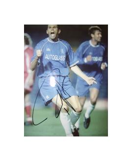 Chelsea star Gus Poyet signed glossy picture