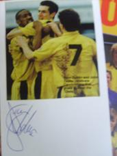 Dion Dublin signed post card picture