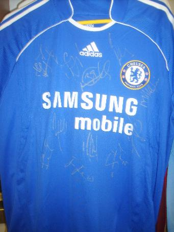 Chelsea shirt  2007 -2008 signed by approx 9