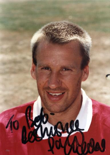 Arsenal star Paul Merson signed picture