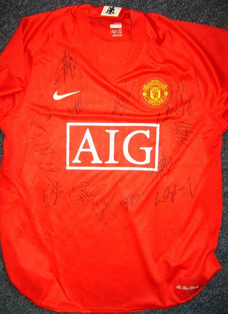 !!! Manchester United current home shirt  black and blue ones also available