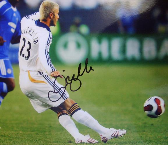 David Beckham in action for LA Galaxy save £20