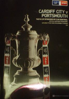 Cardiff V Portsmouth FA Cup 2008 final programe