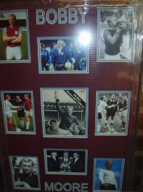 Bobby Moore West Ham & England captain framed montage