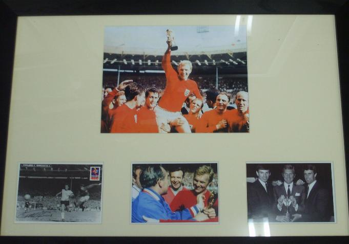 Bobby Moore unsigned collection of images framed