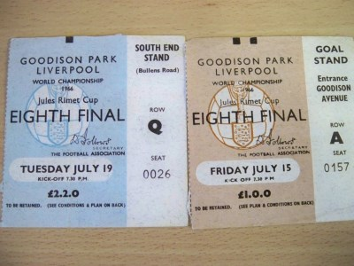 1966 rare items original Ticket application and 2 x tickets from 1966