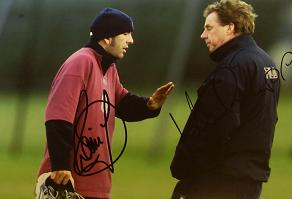 Di Canio and Harry Redknapp signed image