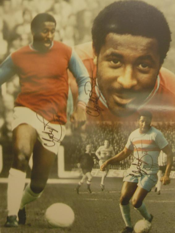 Clyde Best montage signed 3 times