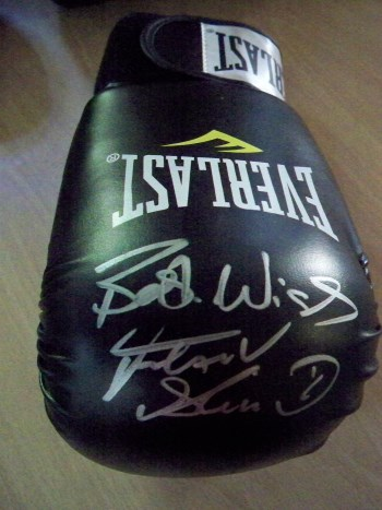 Frank Bruno signed Large Glove available in Black