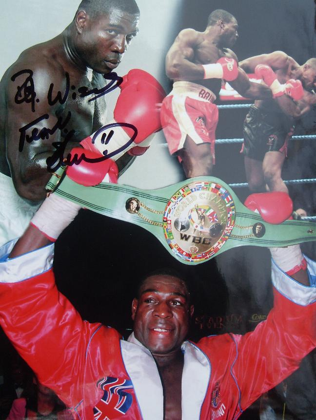 Frank Bruno montage signed by Frank