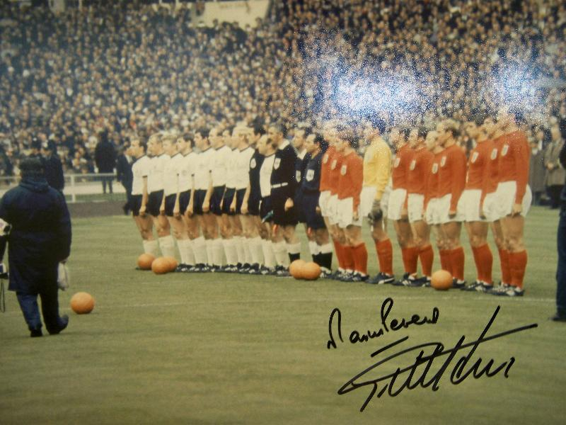 1966 picture signed by Geoff Hurst and Martin Peters
