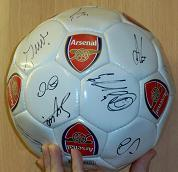 2009-2010 Arsenal signed ball 17 signatures