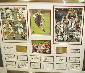 England Rugby 2003 multi autographed image signed by 20 including Wilkinson and Johnson
