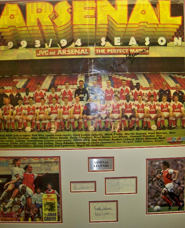 Arsenal multi signed montage