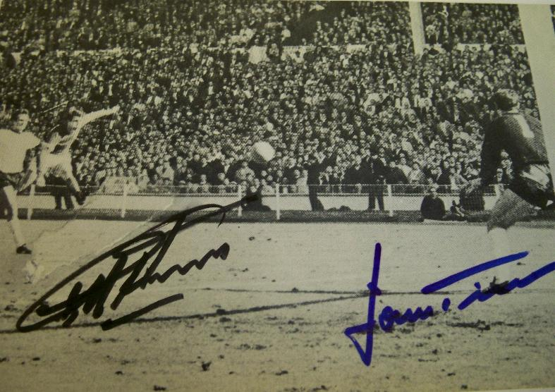 1966  Geoff Hurst and Hans Tilkowski signed image