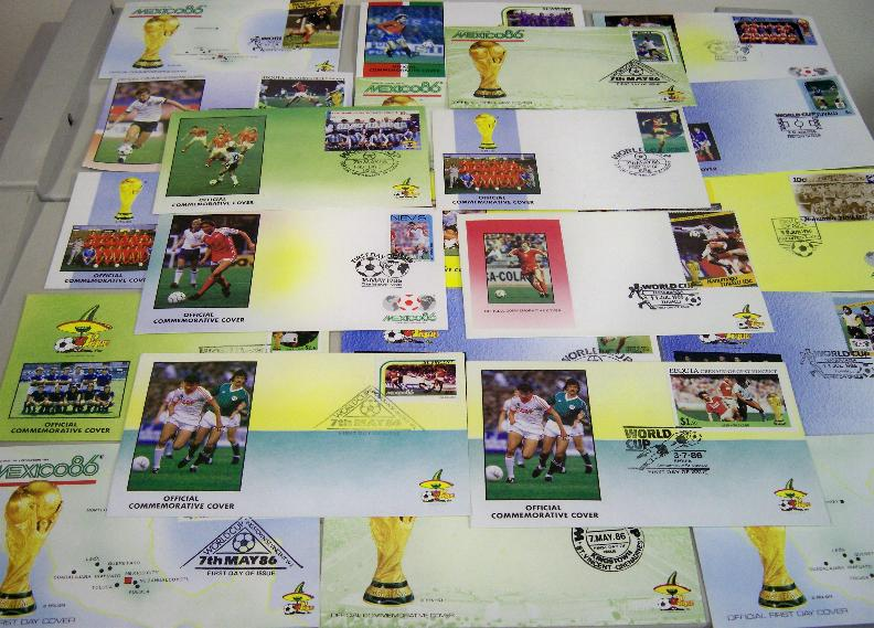 22x 1986 World cup first day covers all different