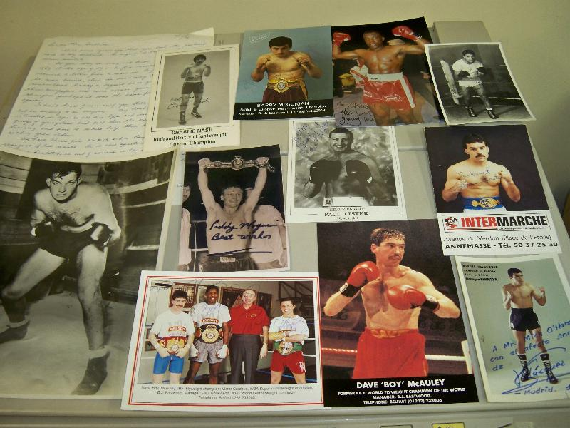 Boxing variety of signed and unsigned images including Gary Mason, Dave Boy McAuley, Barry McGuigan