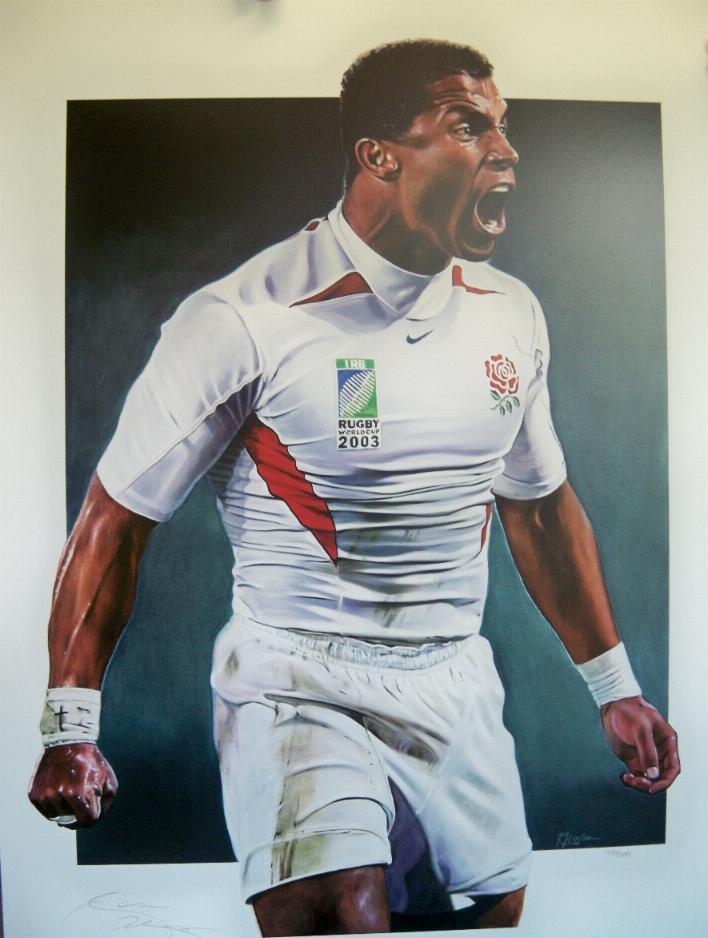 Jason Robinson signed World Cup print