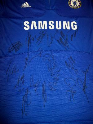 Chelsea double winning multi signed shirt signed by 17