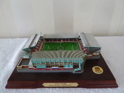 Model of Upton Park West Ham ground signed by Di Canio