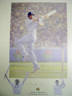 Mike Atherton signed ltd edition image reduced by £100