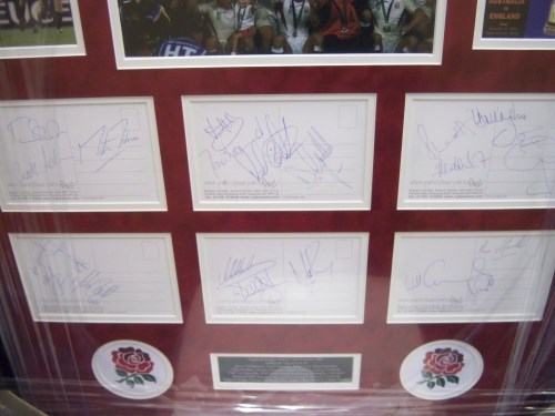 England Rugby World Cup winners signed presentation