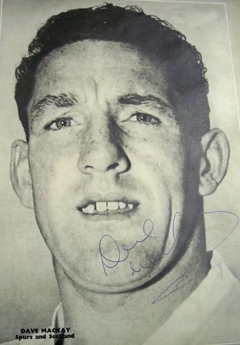 Dave Mackay Tottenham actual signed image Spurs White Hart Lane Legend AFTAL