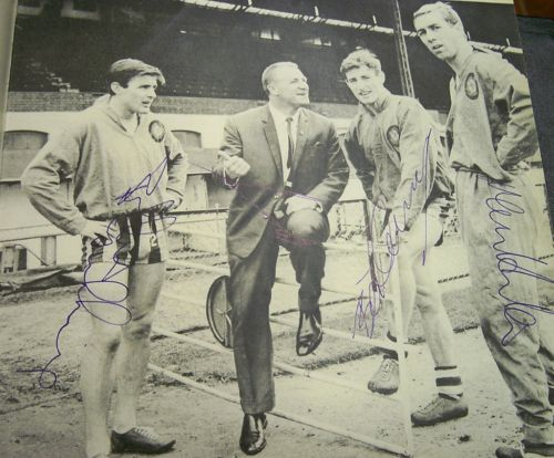 Bobby Tambling, Burt Murray, Marvin Hinton, Tommy Docherty signed Chelsea image