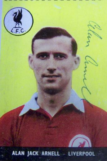 Alan Jack Arnell - Liverpool rare signed collectable card