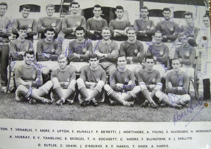 Chelsea vintage 1960 multi signed picture