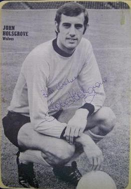John Holsgrove - Wolverhampton Wanderers signed black and white image
