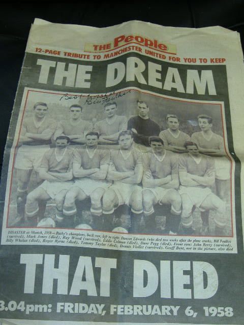 Bill Foulkes signed Tribute to Man Utd Busby Babes
