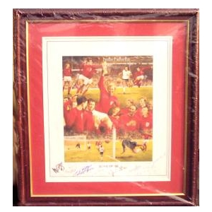 1966 World Cup Print signed by 9