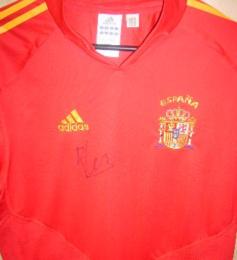 Alonso signed Spain shirt