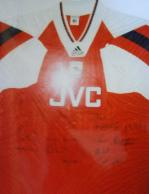 Arsenal 1990's shirt signed by squad members