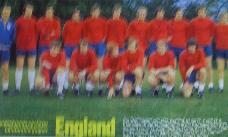 England team picture from magazine signed by Bobby Moore
