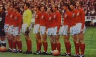 England team line up picture from newspaper signed by Bobby Moore and others
