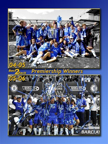 Chelsea champions collage  glossy photograph