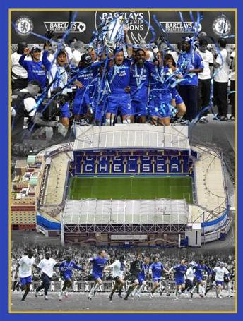 Chelsea collage Stamford Bridge  glossy photograph