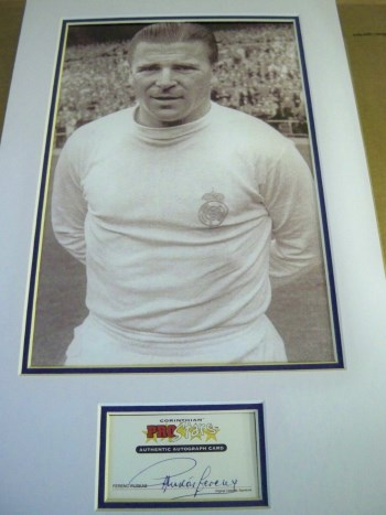 Ferenc Puskas rare genuine signature obtained by us