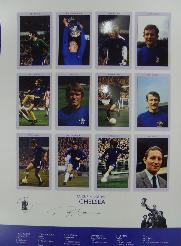 Chelsea 1970 cup winners print signed by Ron Chopper Harris