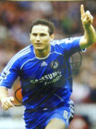 Frank Lampard jnr  10 x 8 signed having scored for Chelsea