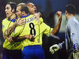 Arsenals Ljungberg & Pires  signed photograph