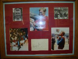 Bobby Moore Montage with signature