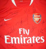 ********Arsenal 2006/7 shirt multi signed