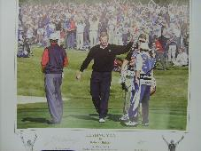 Colin Montgomerie 'Leading Man' signed print