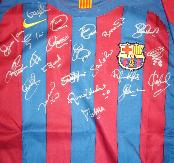 Barcelona shirt  multi signed